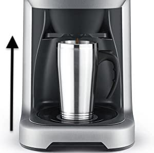 the breville grind and brew can easily accommodate a tall cup